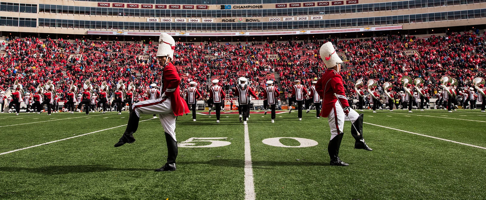 UW Marching Band performs at Camp Randall Stadium